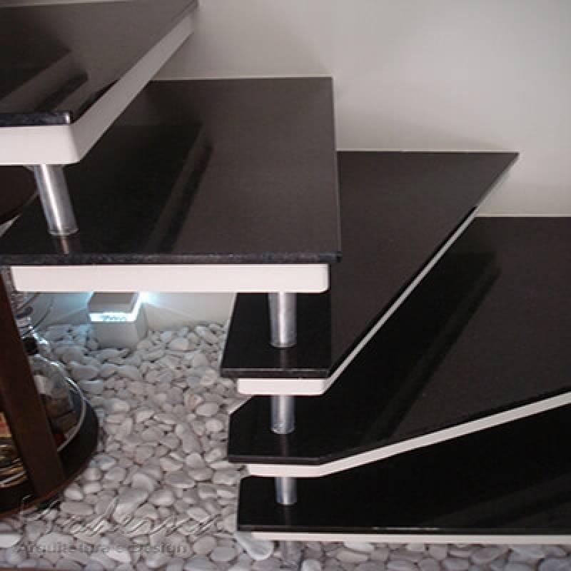 Escada de Granito Preto Preço Lapa - Escada de Granito Travertino