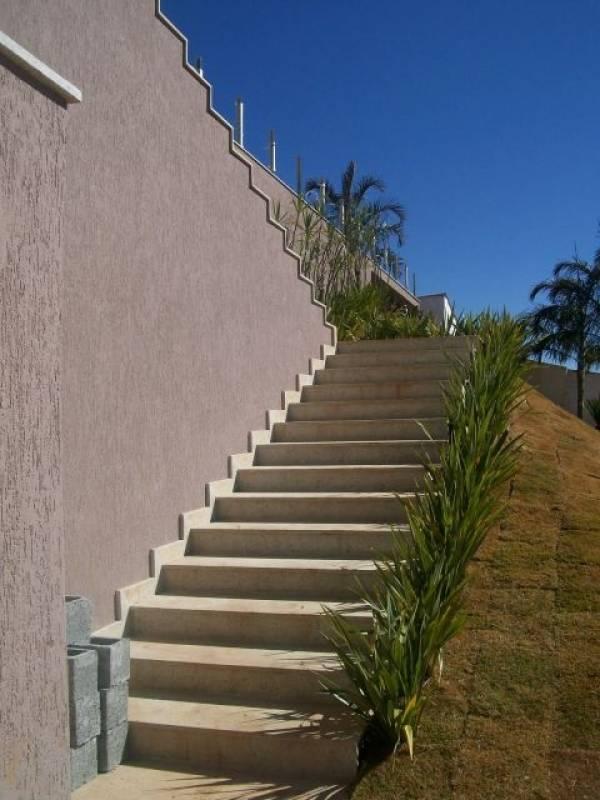 Escada de Mármore Externa Trianon Masp - Escada de Granito Travertino