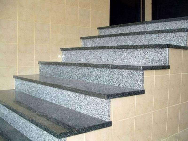 Instalação de Escada de Granito com Pingadeira Bosque Maia - Escada de Granito Travertino