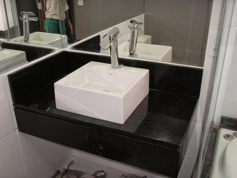 Lavatório de Mármore para Banheiro Pequeno Freguesia do Ó - Lavatório de Granito para Salão