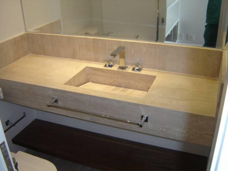 Lavatório de Mármore para Banheiro Vila Gustavo - Lavatório de Granito de Canto