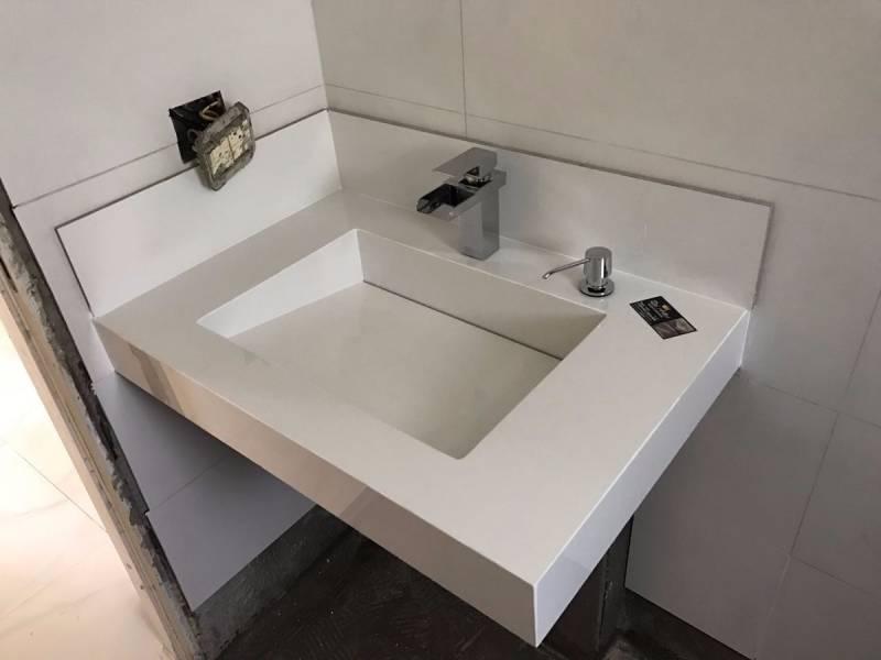 Lavatórios de Mármore para Banheiro Pequeno Pinheiros - Lavatório de Granito para Salão