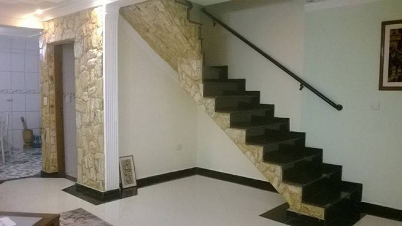 Quanto Custa Escada de Granito com Rodapé Parque Anhembi - Escada de Granito Travertino