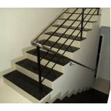 quanto custa escada de granito preto Vila Albertina
